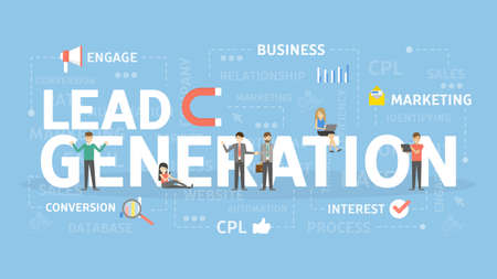 Lead generation concept.