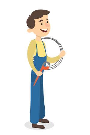 Isolated plumber man. Imagens - 96266643