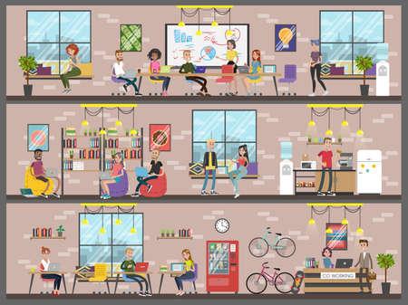 Coworking building interior.