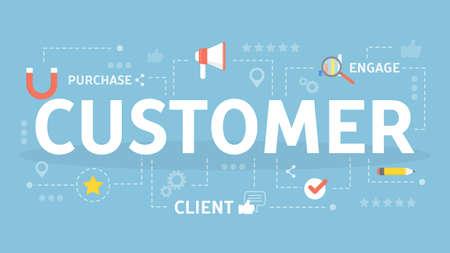 Customer concept illustration.
