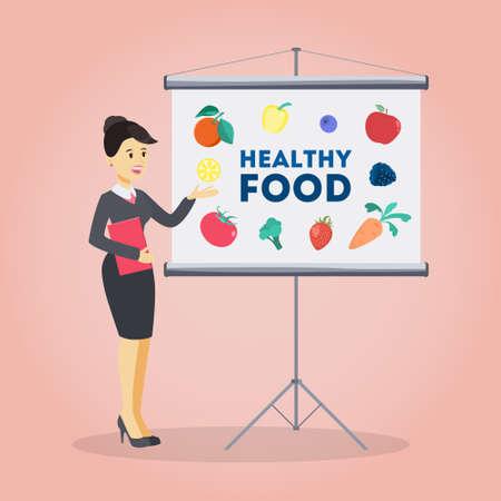 Healthy food presentation.
