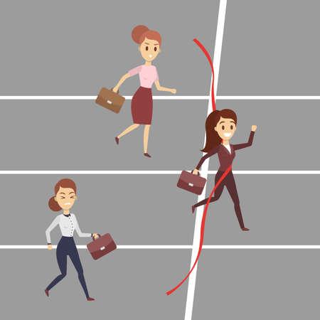Business race concept.