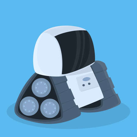 Future robot isolated. Illustration
