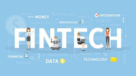 Fintech concept illustration.