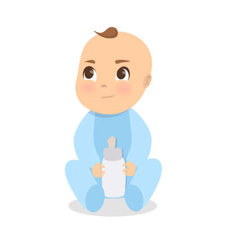 Cartoon baby image illustration Illustration