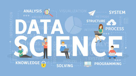 Data science people image illustration