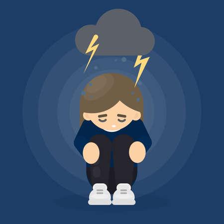 Woman in depression.