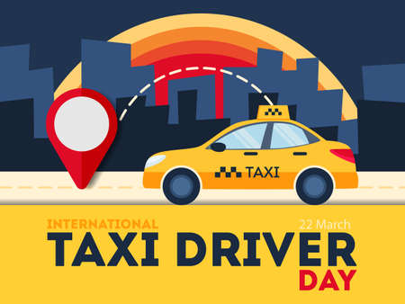Taxi driver day image illustration