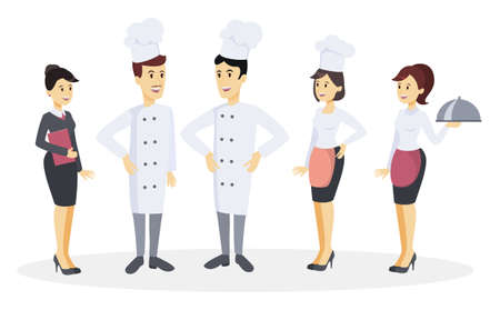 Chef team set illustration