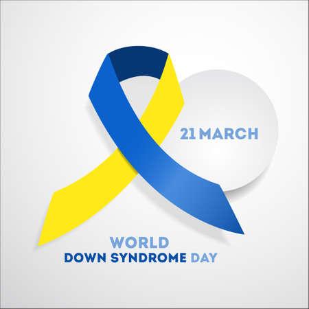 Down syndrome day poster design. Illustration