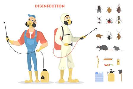 Pest control service. Ilustração