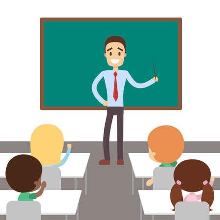 Teacher in classroom.