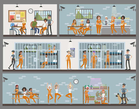 Female prison interior.