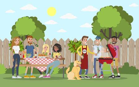 BBQ Party im Freien