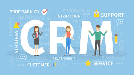 CRM concept illustration.
