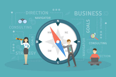 Business compass illustration.
