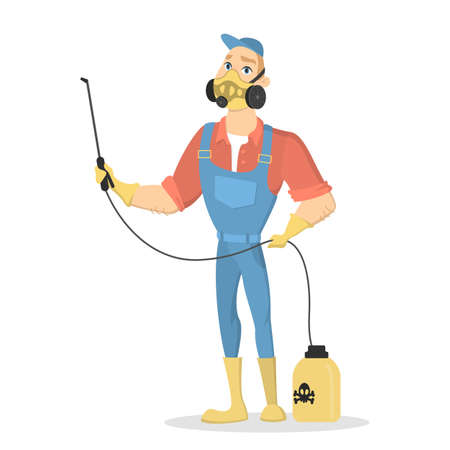 Pest control service. Illustration