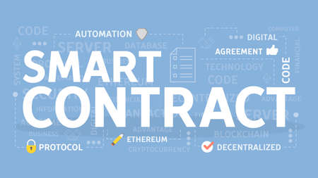 Smart Contract Konzept Vektorgrafik