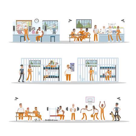 Male prison interior.