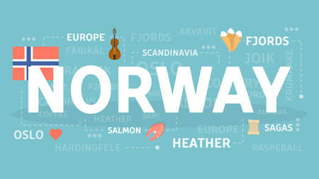 Welcome to Norway illustration.