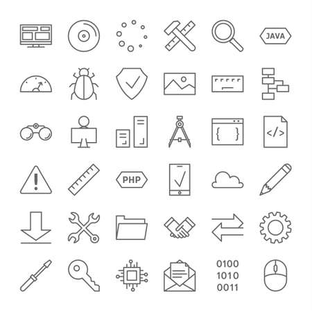 Programming icons set.