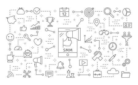 SMM icons set.