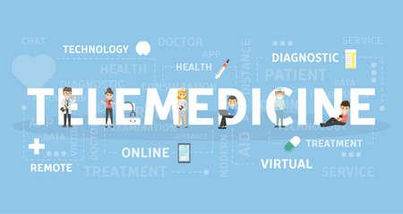 Telemedicine concept illustration.