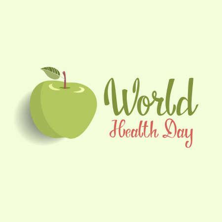 World health day poster vector illustration. Illustration
