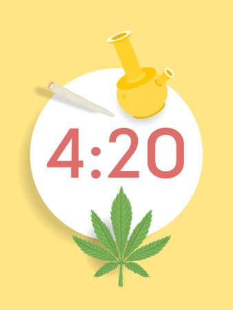 Have fun with marijuana concept vector illustration.