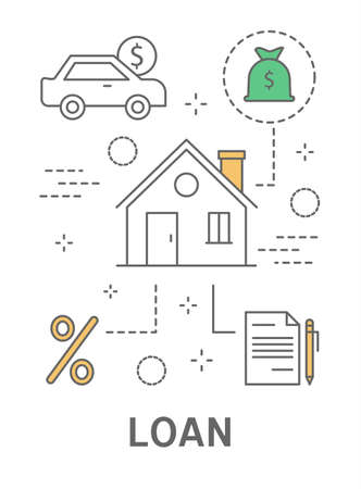 Banking loan illustration. Illustration