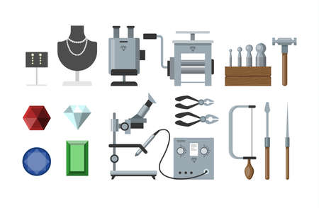Jewelry instruments set.