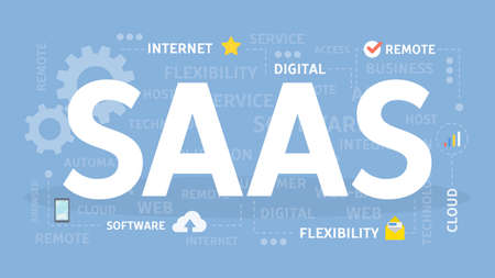 SAAS concept illustration. Idea of internet and software.