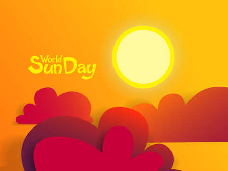 World sun day. Holiday for environmental issues. 向量圖像