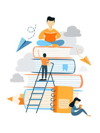 Education for people. Stock Illustratie