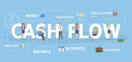 Cash flow concept illustration. Idea of successful business.