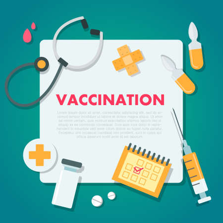Vaccination concept vector illustration. Иллюстрация