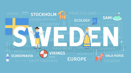Welcome to Sweden banner design
