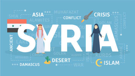 Welcome to Syria banner design