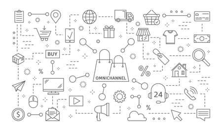 Omnichannel icons set. Banque d'images - 100413489