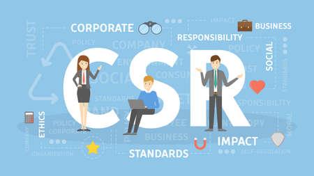 Illustrazione del concetto di CSR.