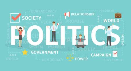 Ilustración del concepto de política. Idea de institución política. Ilustración de vector