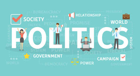 Politics concept illustration. Idea of political institution.