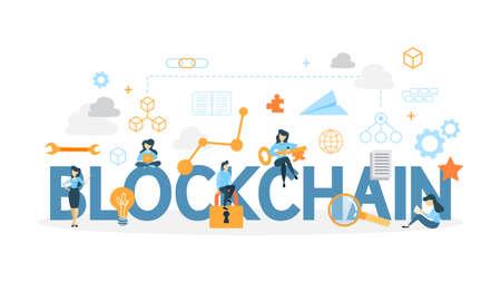 Blockchain concept illustration.