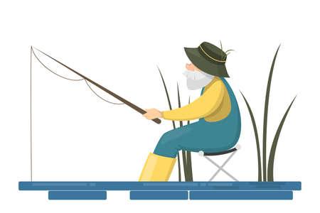 Fisher people set. Illustration
