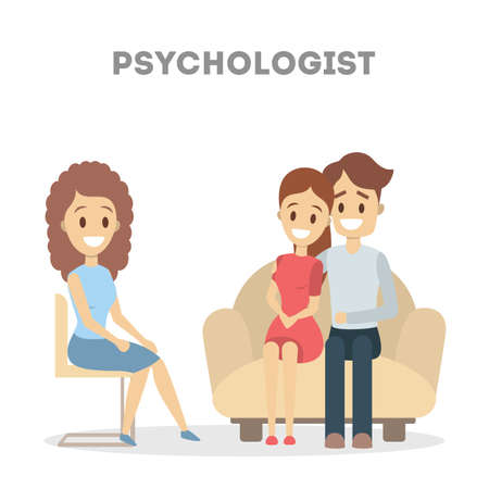 Couple at psychologist.