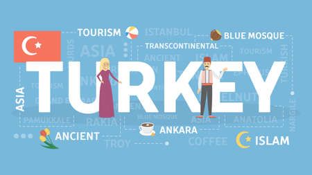 Welcome to Turkey. Illustration