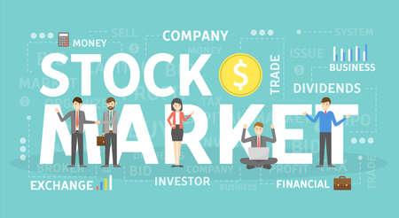 Stock market concept.