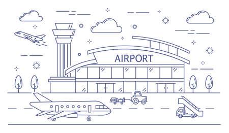 Airport line building.