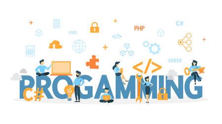 Programming concept illustration. Vetores