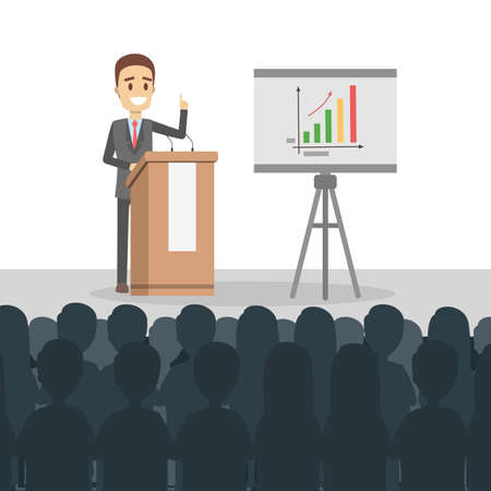 Business presentation illustration.
